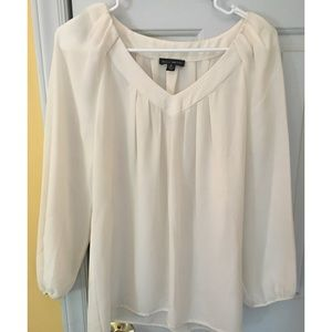 Willi Smith cream blouse